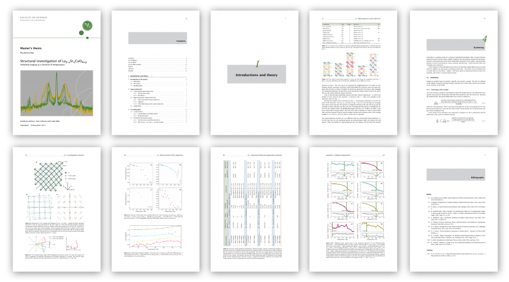 A couple of example pages from the thesis