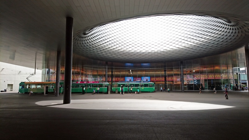 When you get to the conference center, you are met with the huge alien-looking Messe building with a big hole in the roof over one of the tram stops - it looked very surreal