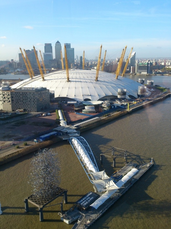 View of the O2 Arena from the Emirates Air Line