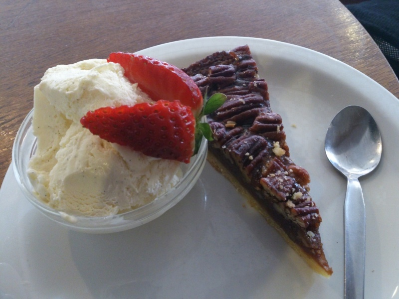 Pecan pie at Queen's Lane Coffee House
