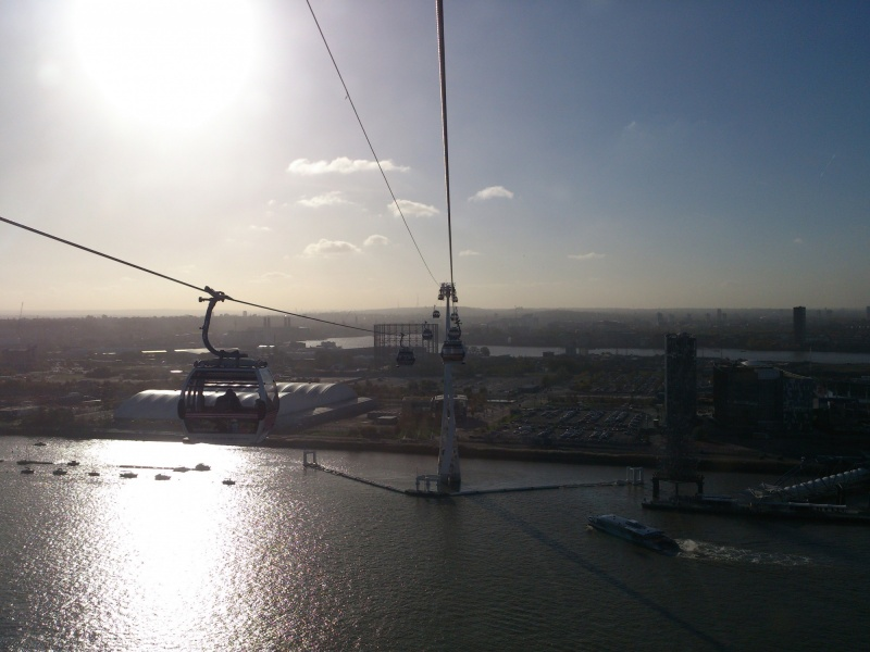 Beautiful view from the Emirates Air Line