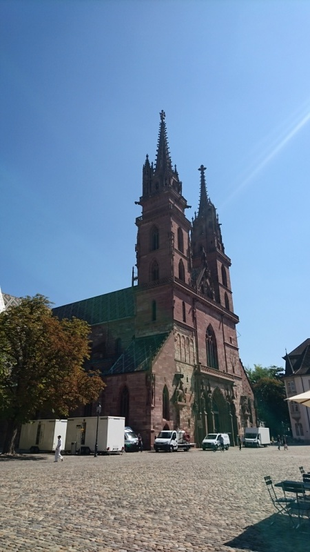 The beautiful Basel Minster - a huge and very old church