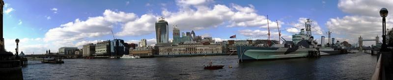 HMS Belfast panorama
