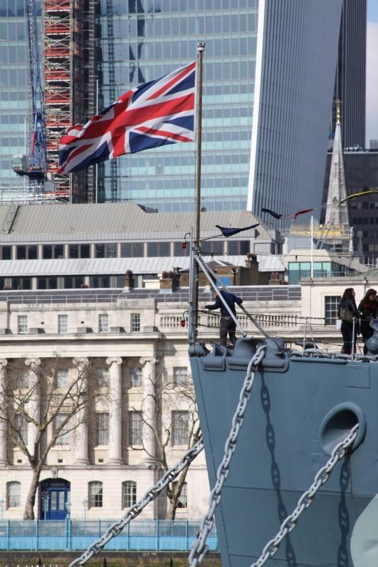 HMS Belfast front