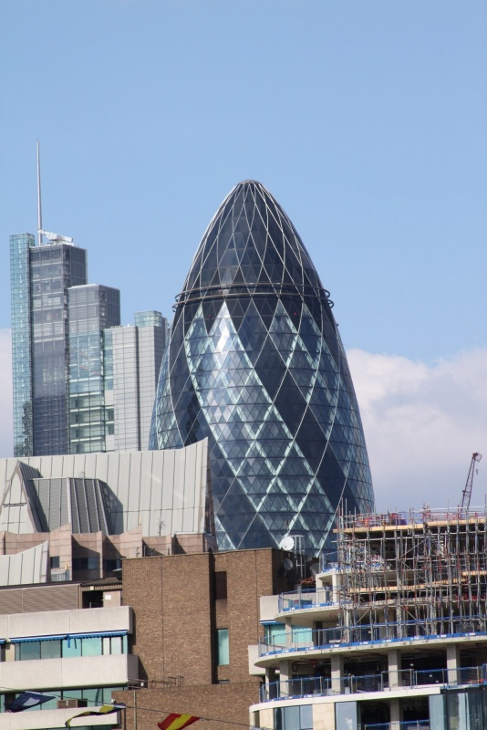 The Gherkin peeking out
