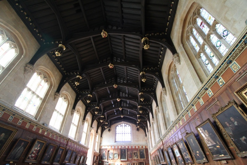 The dining hall at Christ Church college