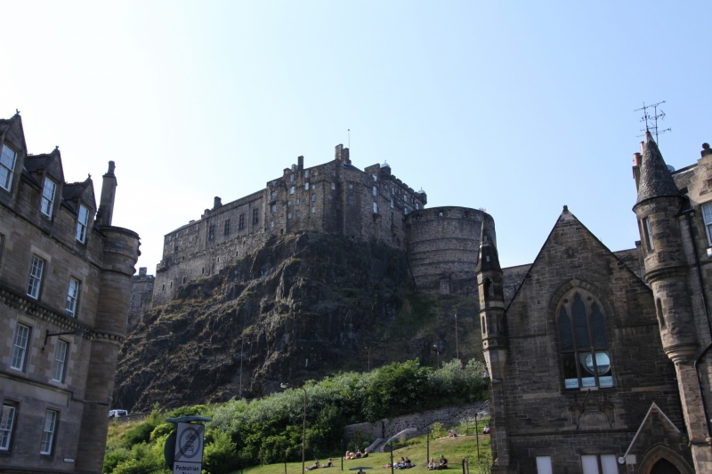 The castle from one Grassmarket
